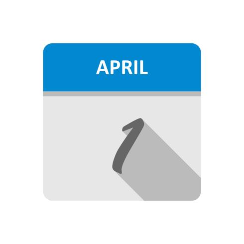 Datum des 1. Aprils für einen Tageskalender