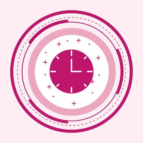 Diseño de icono de reloj