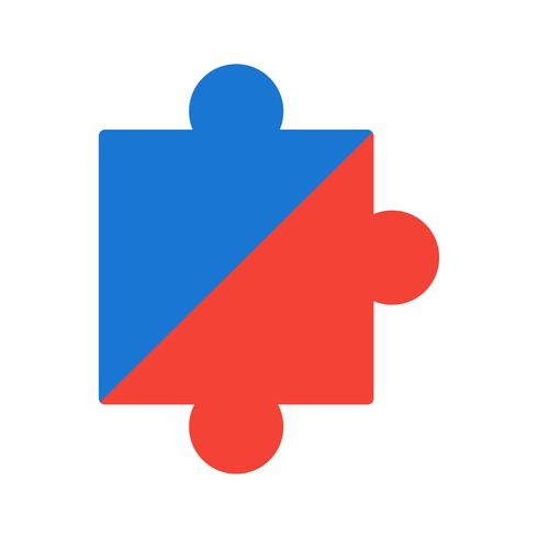 Puzzel stuk pictogram ontwerp