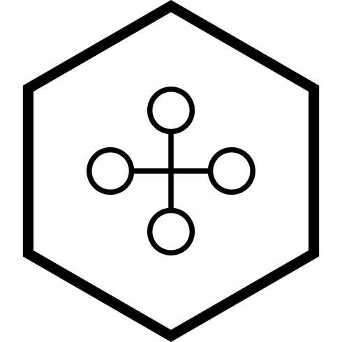 Link gebouw pictogram ontwerp