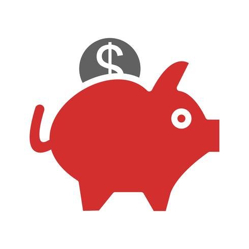Piggy Bank pictogram ontwerp