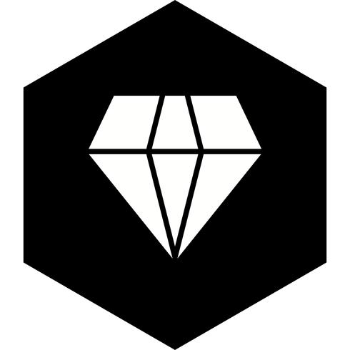 conception d'icône de diamant vecteur