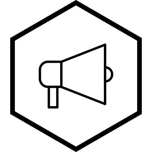 Aankondiging pictogram ontwerp