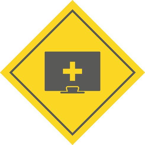 Online medische hulp pictogram ontwerp
