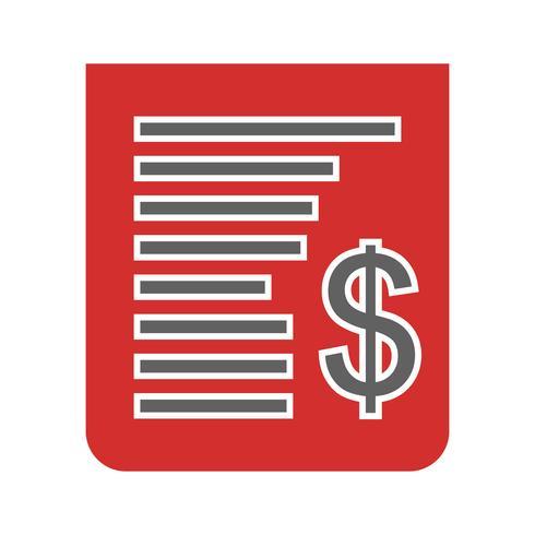 Diseño de icono de recibo