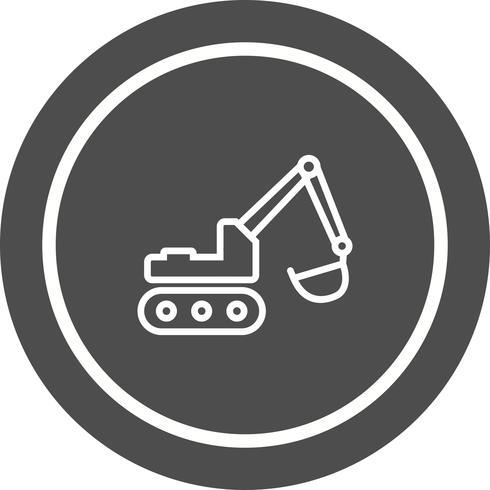Diseño de icono de excavadora