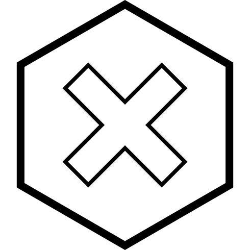 Annulla il design dell'icona