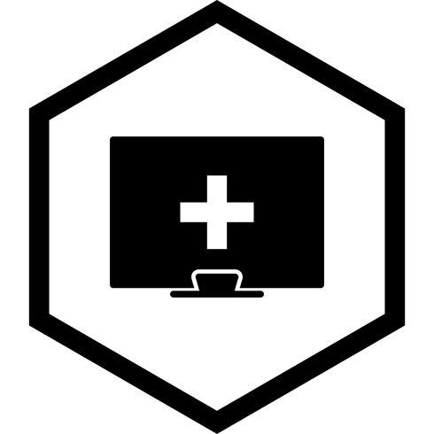 Ayuda médica en línea diseño de iconos