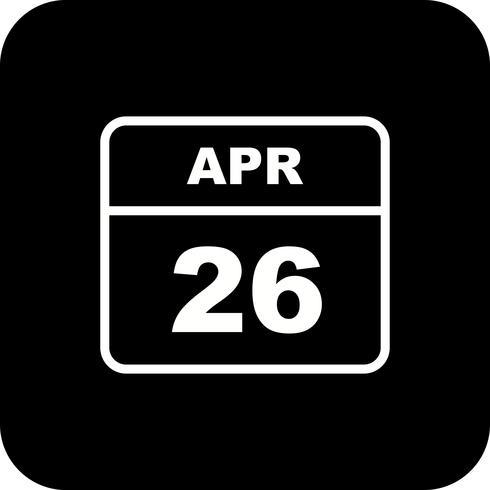 26 avril Calendrier d'une journée