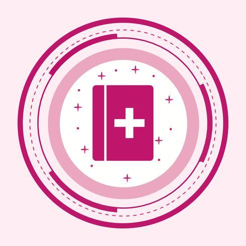 Design de ícone de livro médico