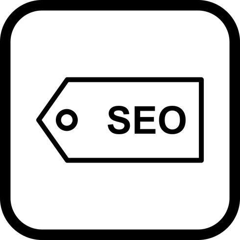 Diseño de icono de etiqueta SEO