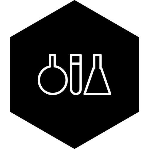 Design de ícone de tubos de ensaio vetor