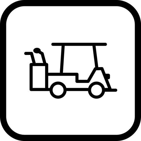 Golfkar pictogram ontwerp