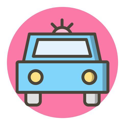 Diseño de icono de coche de policía