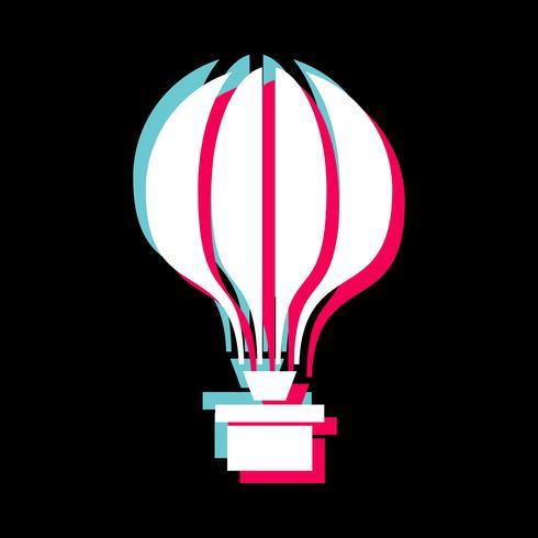 Projeto de ícone de balão de ar vetor