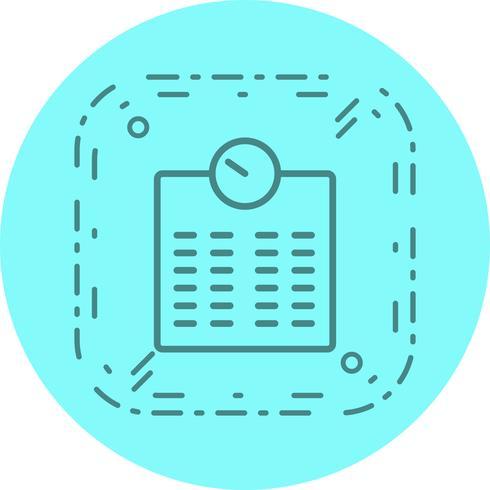 Design de ícone de máquina de ponderação vetor