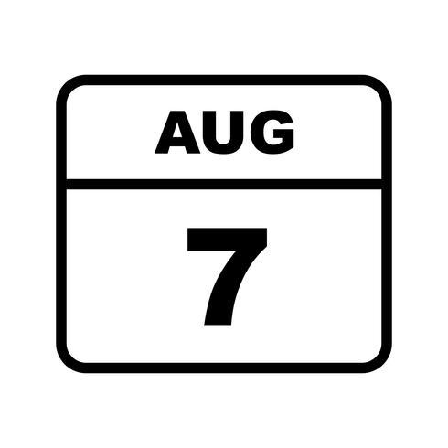 7 augustus Datum op een dagkalender