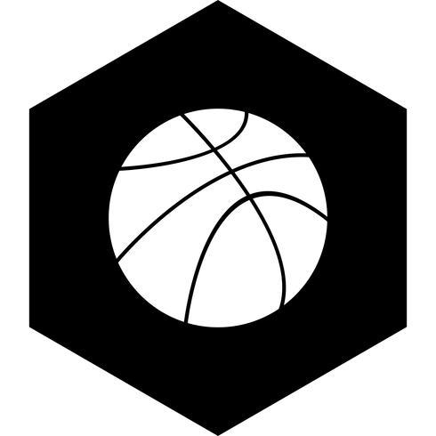Ícone de bola de basquete vetor