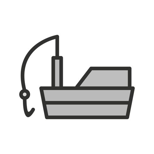 Design de ícone de barco de pesca