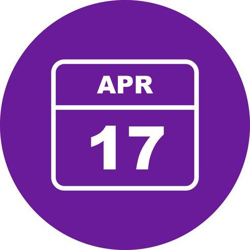 17 april Datum op een eendaagse kalender