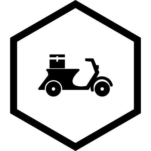 Delivery Motorbike Icon Design