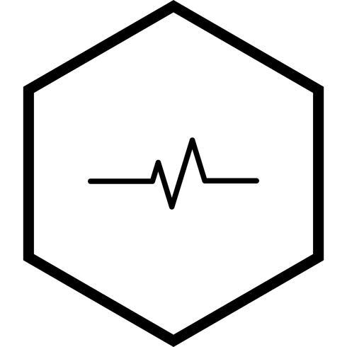 Pulso taxa, ícone, desenho vetor