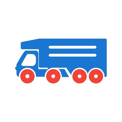 projeto de ícone de caminhão basculante vetor