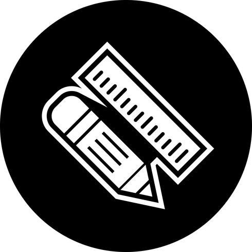 Pencil & Ruler Icon Design