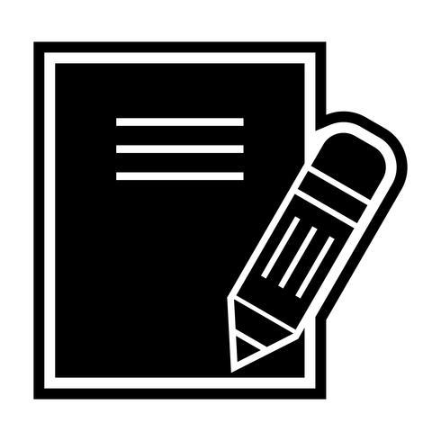 Design de ícone de notas vetor