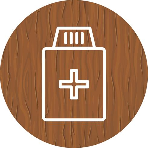 Diseño de icono de botella de medicina