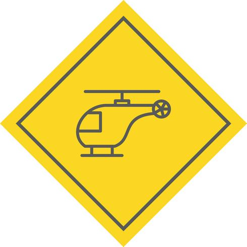 Disegno dell'icona dell'elicottero