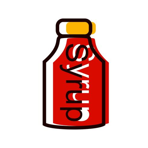 Syrup Icon Design vector