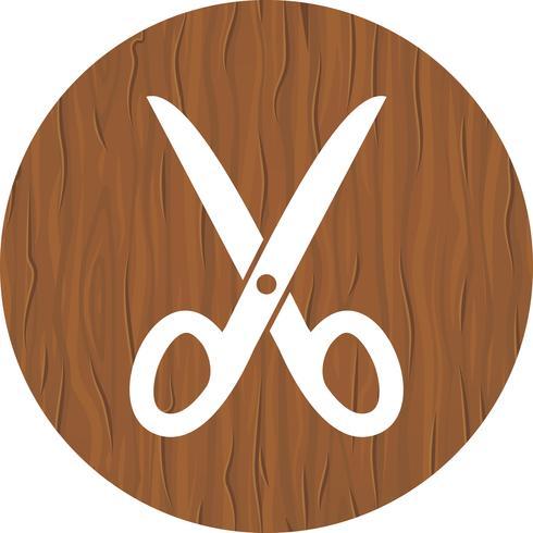 Forbici Icon Design vettore