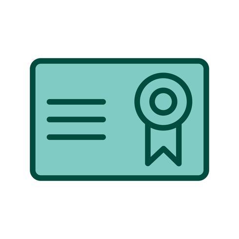 Design de ícone de certificado vetor