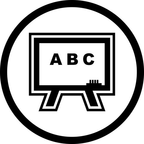 schoolbord pictogram ontwerp