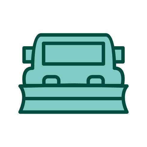 Diseño de icono de quitanieves