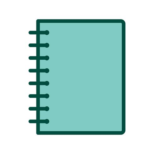 Spiraalvormig Notebook pictogram ontwerp