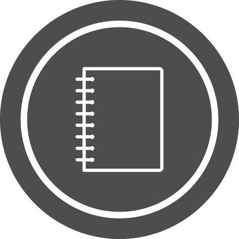 Disegno dell'icona del taccuino a spirale