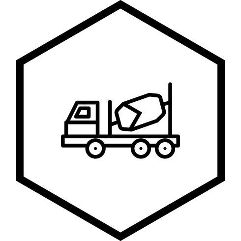 Progettazione dell'icona del miscelatore di calcestruzzo
