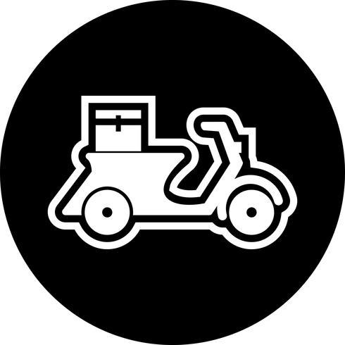 Livraison Icône Design Moto vecteur