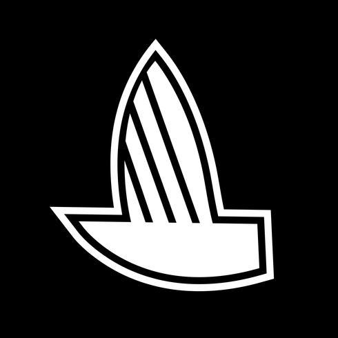 Yacht-Icon-Design vektor
