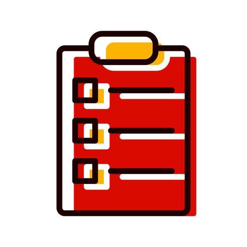 Design de ícone de lista vetor