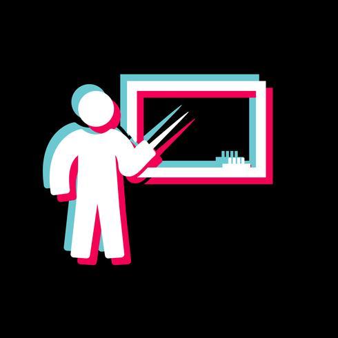 Diseño de iconos de enseñanza vector