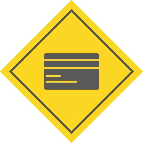 Design de ícone de cartão de crédito vetor