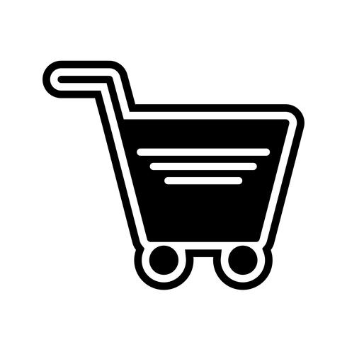 Winkelwagen pictogram ontwerp