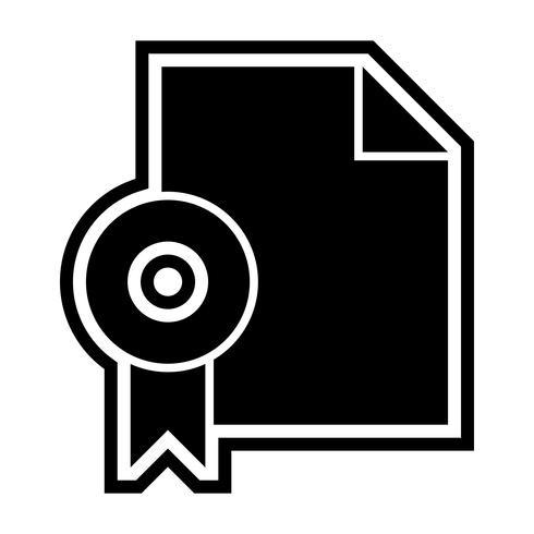 Design de ícone de diploma vetor