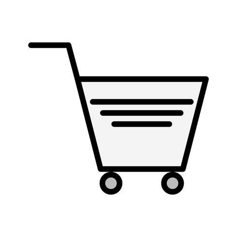 Design de ícone de carrinho de compras vetor