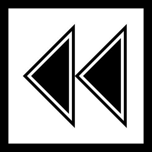 Disegno dell'icona frecce arretrate