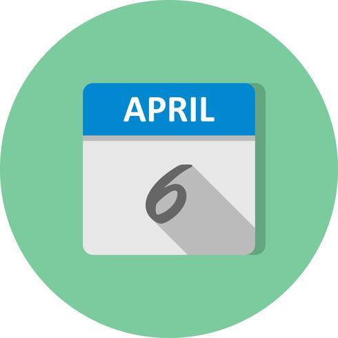6 april Datum op een eendaagse kalender