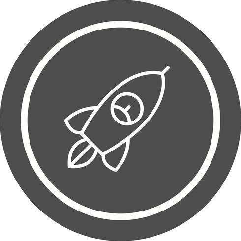 conception d'icône de fusée vecteur